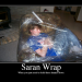 Saran wrap prank someone