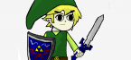 Draw a picture of Link from The Legend Of Zelda