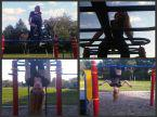 Have fun on some monkey bars!