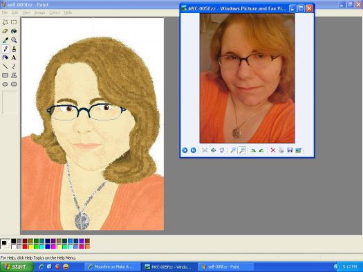 use Paint to make a Self-Portrait
