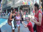 go up to a complete stranger and propose to them